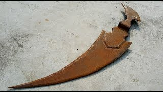 Restoration Grim reaper scythe old rusty | Restore combat weapon antique