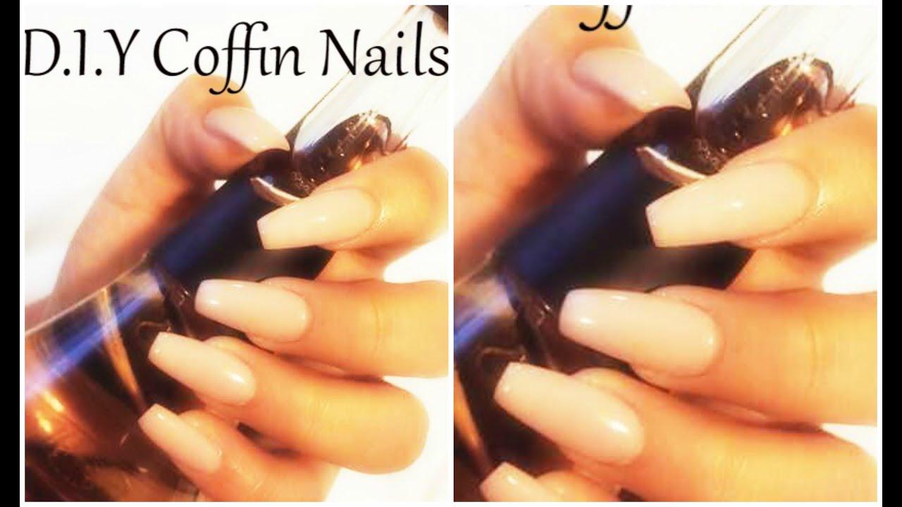 DIY Coffin Shape Nails