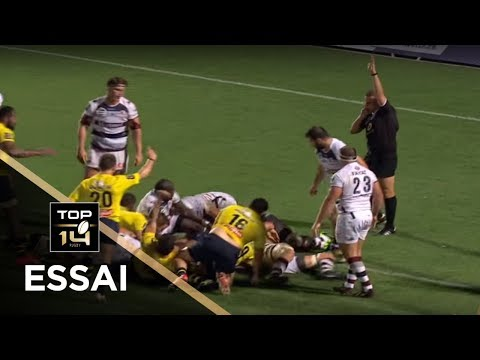 TOP 14 - Essai Michaël SIMUTOGA (ASM) - Bordeaux-Bègles - Clermont - J1 - Saison 2017/2018