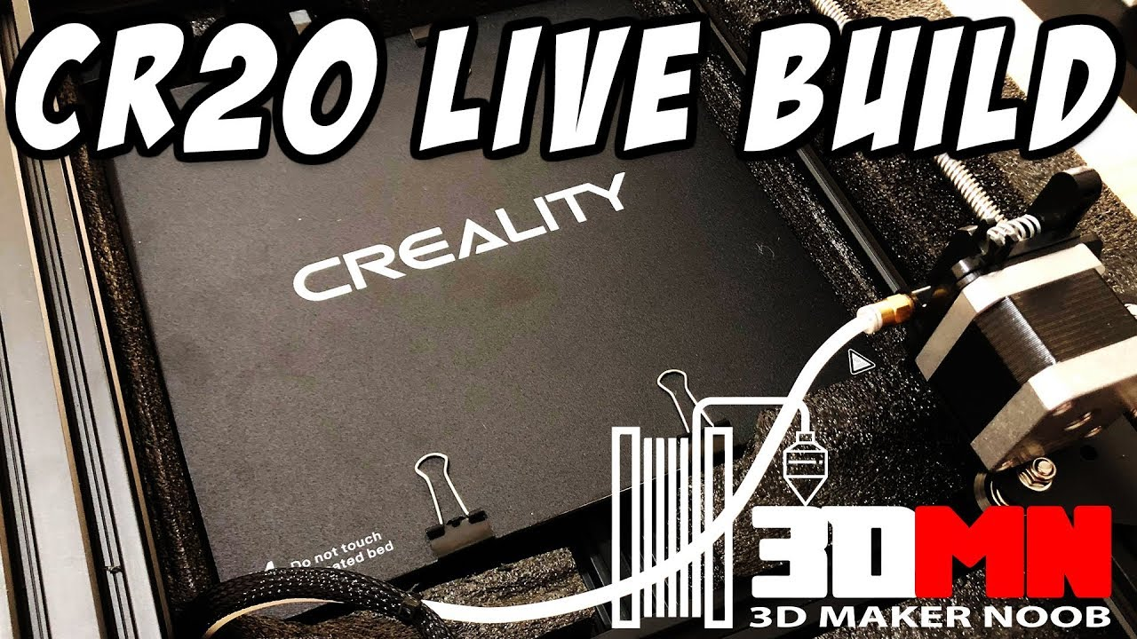 Creality CR20 Live Build and Test