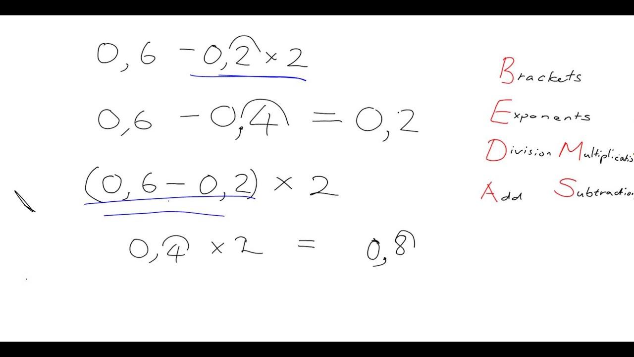 Decimals 7 9 Bedmas And Decimals