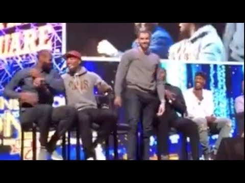 """LeBron James & Cavs ROAST Kevin Love for Being a """"Chubby"""" Kid, Love Gets the Last Laugh"""