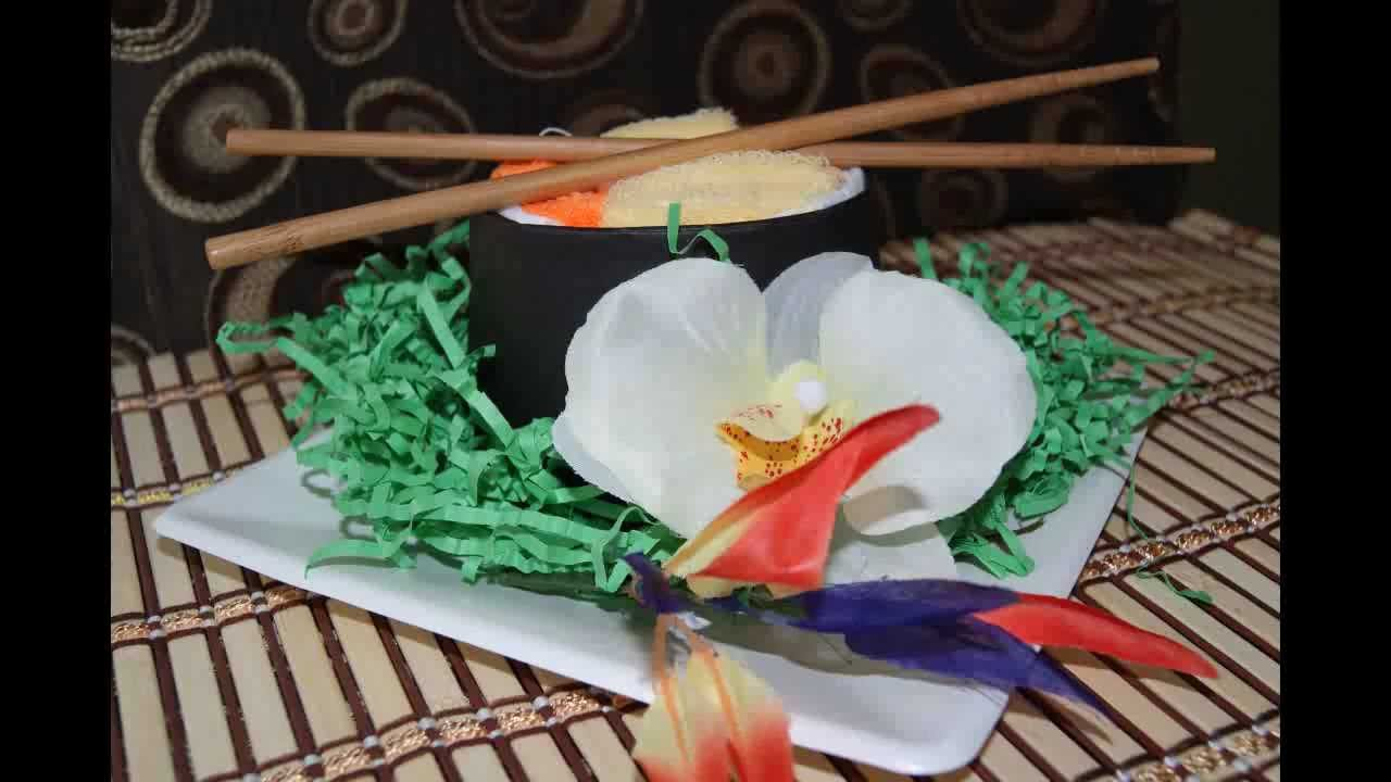 How To Make A Sushi Diaper Cake