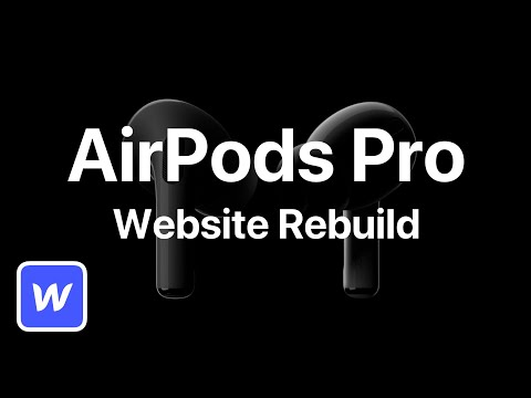AirPods Pro Website With Webflow | Webflow Tutorial