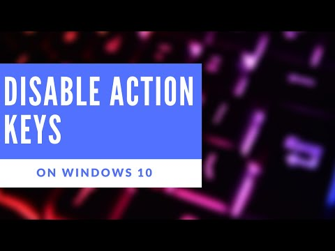 How to- enable or disable action keys on Windows 10 - YouTube