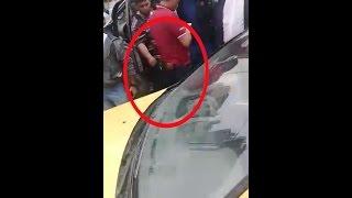 بالفيديو.. لص يحاول سرقة ضابط شرطة أثناء القبض عليه