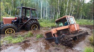Турбо-трактор против ДТ75 Болотник! Неожиданный финал!