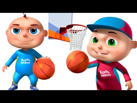 Thumbnail: Zool Babies Playing Basket Ball | Animated Funny Cartoon | Cartoon Animation For Children