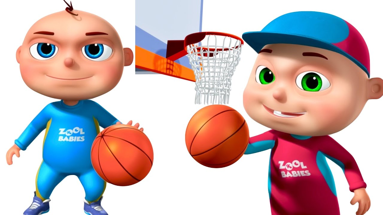 zool babies playing basket ball animated funny cartoon cartoon animation for children youtube