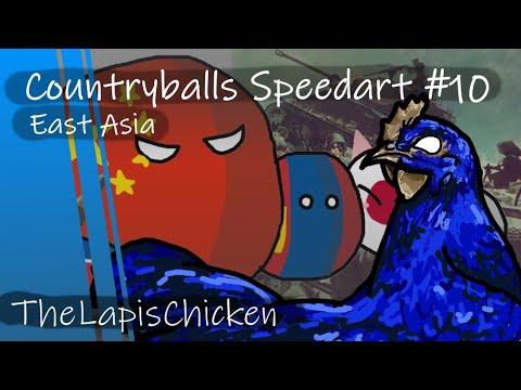 Countryballs Speedart #10 | East Asia