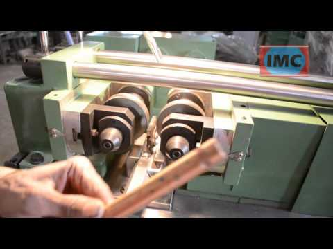 Knurling With IMC 40 Thread Rolling Machine