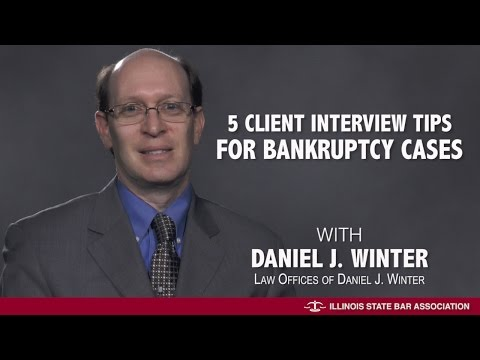 5 Client Interview Tips for Bankruptcy Cases