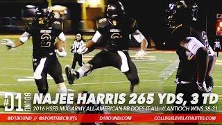 Najee Harris Crazy Highlights (265 Yards, 3 TD Game): Antioch vs Cal High 2016 Playoffs