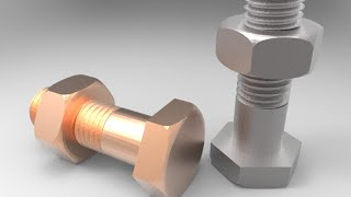 3d Modelling Of Metric M8 Nut And Bolt Using Autocad