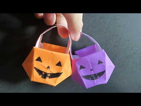 Origami Pumpkin Basket 南瓜籃子 -Happy Halloween 萬聖節手作