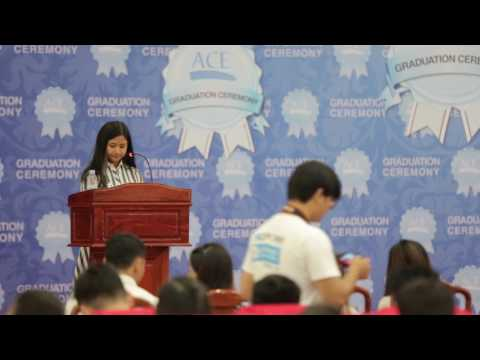 TRAM Chantreametrey's speech during ACE Graduation 2017