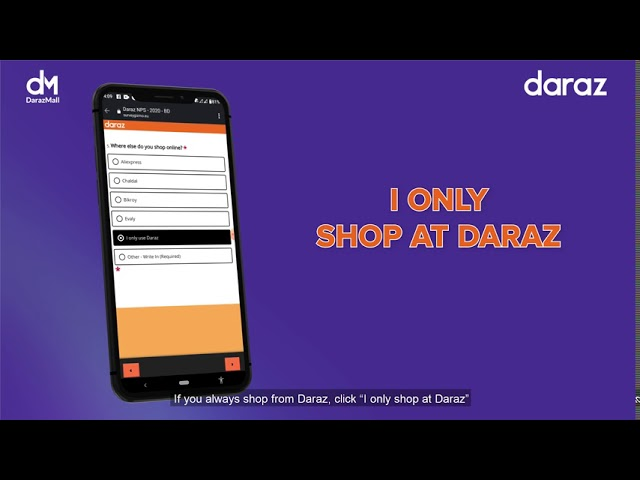 Share Daraz Experience and Get a chance to Free Daraz Voucher | NPS Form