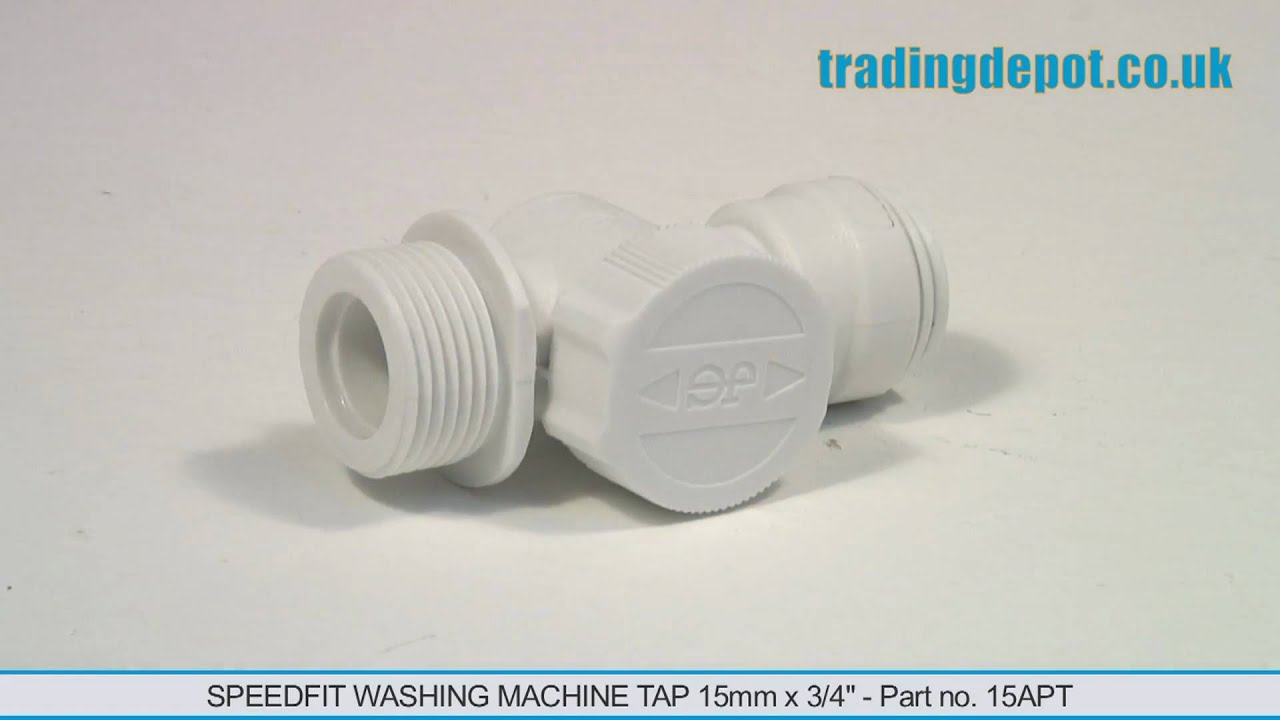 Washing machine connection 15mm John Guest speed fit 3//4/'/' appliance tee