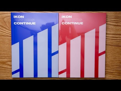 Unboxing | IKON Mini Album - NEW KIDS: CONTINUE (Red + Blue Version)