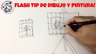 How to Transfer a Drawing to a Canvas and How to Enlarge a Drawing (Tip of Drawing and Painting)