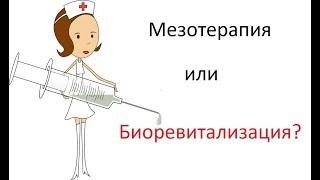 Мезотерапия или биоревитализация?