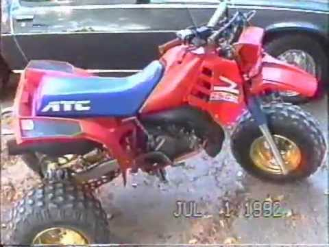 1986 Honda ATC 250R - Vintage footage