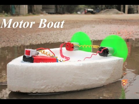 How to make an Electric Motor Boat - Electric Twin Motor
