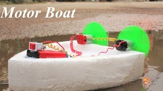 How to make an Electric Boat double motor boat