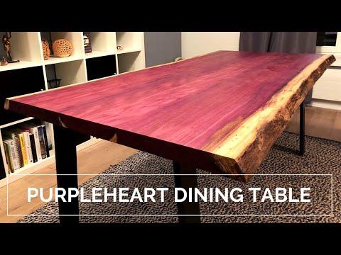 Purple Dining Table - Live Edge Amaranth/Purpleheart
