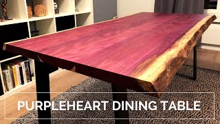 Purple Dining Table - Live Edge Amaranth/Purpleheart