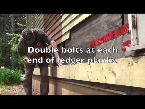DIY Deck Part 2 - Attaching Ledger Plank