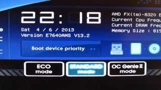 How to Update BIOS on MSI 990FXA-GD80 to 13.2