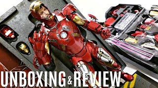 Hot Toys Iron Man Mark VII DIECAST, Unboxing & Review Robert Downey jr. Resemblance, Marvel Avengers