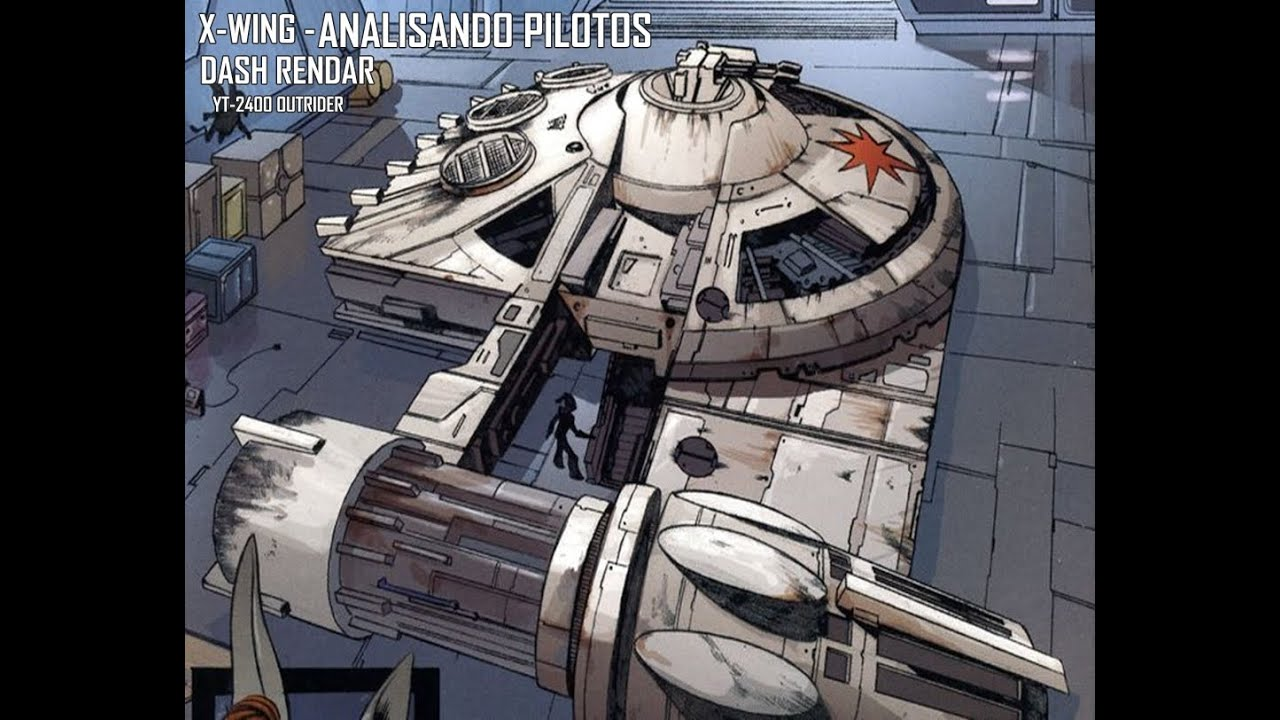 X Wing Analisando Pilotos Dash Rendar Yt 2400 Youtube