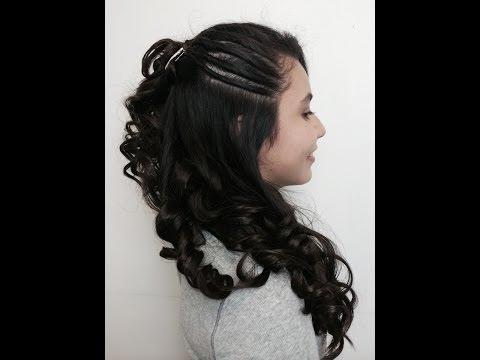 Peinado con rizos para niña!!