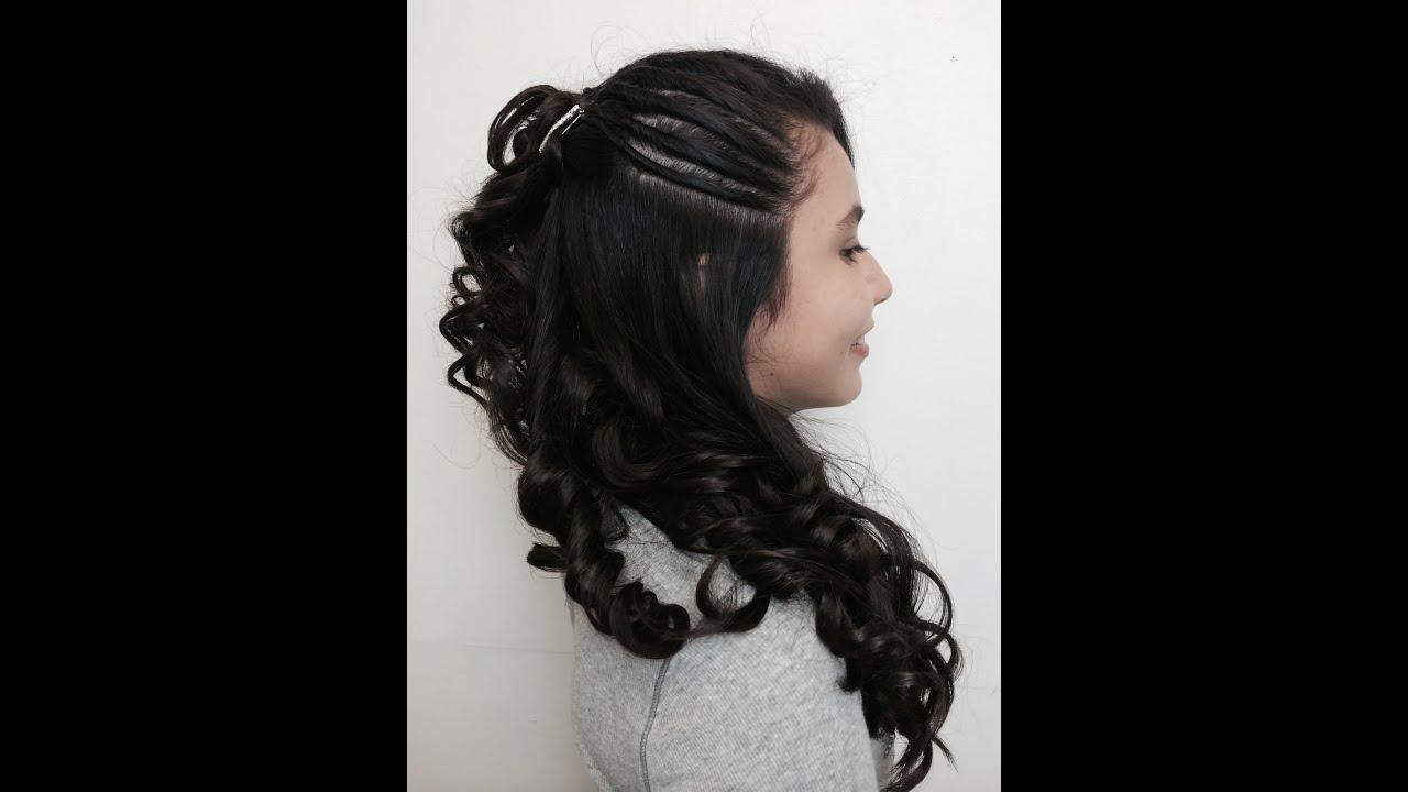 Peinado con rizos para ni a youtube - Peinados bonitos para ninas ...