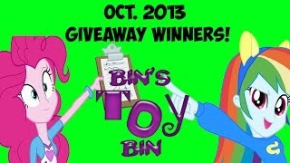October 2013 Equestria Girls Giveaway Winners! By Bin's Toy Bin