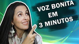 🔴 SUA VOZ BONITA EM 3 MINUTOS -  Como Cantar  by Gláucia Quites