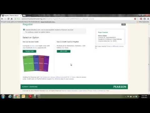 Pearson mylab temporary access code youtube pearson mylab temporary access code fandeluxe Images