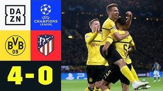 Raphael Guerreiro und Co. feiern magischen CL-Abend | BVB - Atletico 4:0 | UEFA CL | DAZN Highlights