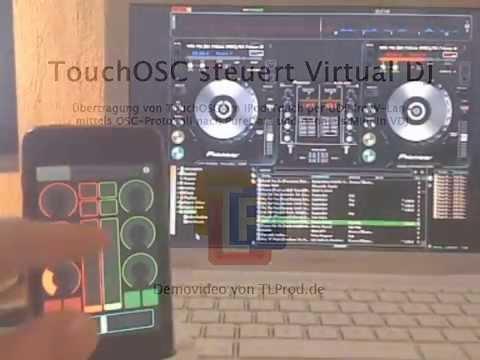 IPhone TouchOSC Steuert Virtual DJ