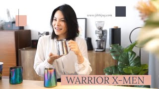 Easy latteart with Warrior X-Men 420ml , from JIBBIJUG.  www.jibbijug.com