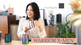 Easy latteart with Warrior X-Men 420ml , from JIBBIJUG.  www.jibbijug.com