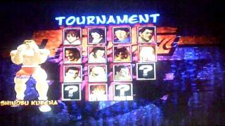 ps2 - Fighting Fury character selection