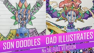 DRAWING with my kids - GYNOID QUEEN [FULL VERSION] No.56