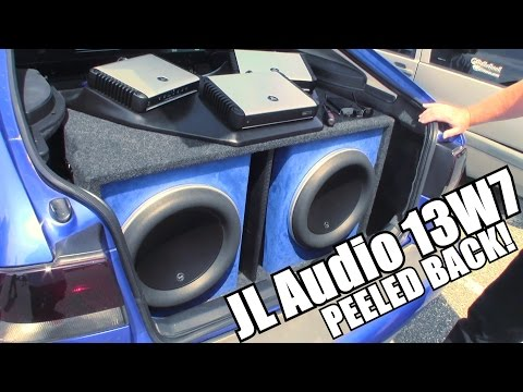 JL Audio 13W7 PEELED BACK w/ Brian's BASS Install | How To Mount a 13.5 W7 Subwoofer UNDER Surround