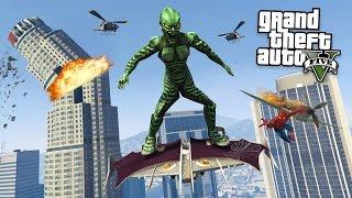 vuclip SIPDERMAN´S ERZFEIND! GREEN GOBLIN + GLEITER MOD! GTA 5 Mod Gameplay!