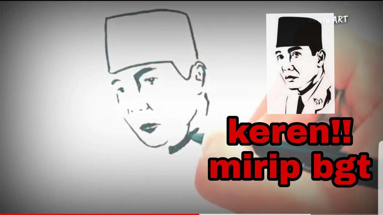 Gambar Karikatur Ir Soekarno Hitam Putih