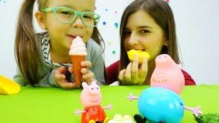Детское видео и игры для детей: Игрушка Свинка Пепа и детские площадки. Дети и родители ютьюб видео