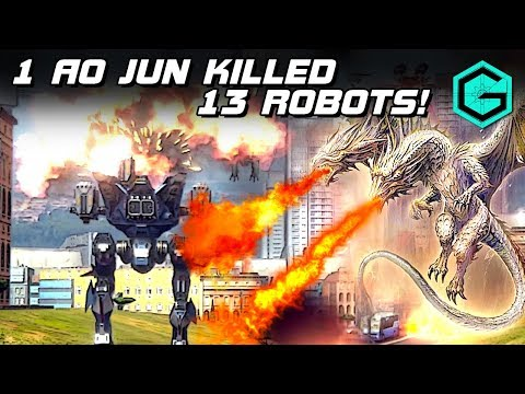 1 AO JUN Killed 13 Robots. War Robots. Белый Дракон AO JUN 2 Viper MK2 & Last & 2 Thermo.